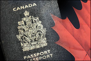 About 50 percent of Canadians are passport holders.